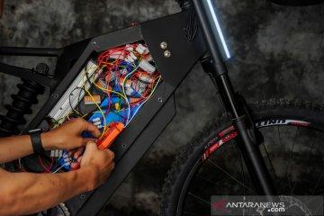 Sepeda listrik buatan pelajar di Bandung
