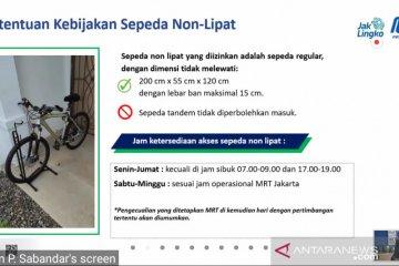 Jakarta kemarin, sepeda non lipat masuk MRT hingga Formula E 2022