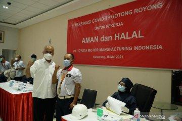 Toyota Indonesia mulai vaksinasi karyawan dan keluarga