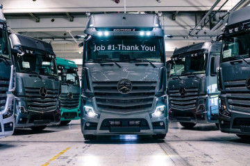 Tiga perusahaan truk patungan bikin pengisian daya di Eropa