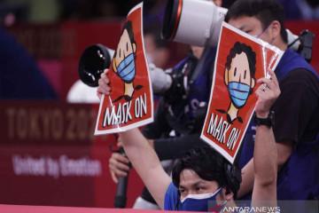 Aba-aba lepas-pasang masker pada Olimpiade Tokyo