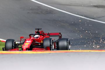 Kecelakaan di FP2, Leclerc gunakan sasis cadangan Ferrari di Spa