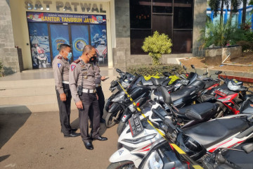Polda Metro sita 57 sepeda motor pebalap liar