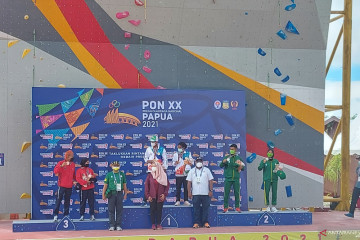 Papua rock climbing pair bags gold medals in XX PON