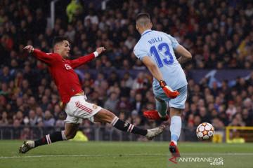 Cetak gol di menit 95, Ronaldo jadi pahlawan MU