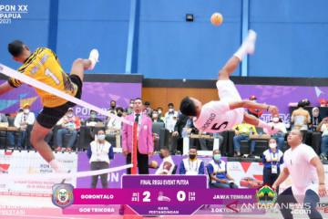 Gorontalo sikat Jateng untuk raih emas sepak takraw double event putra