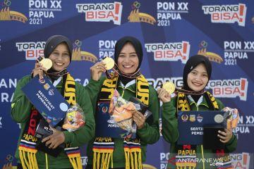 Tim panahan putri Jawa Timur rebut emas PON Papua