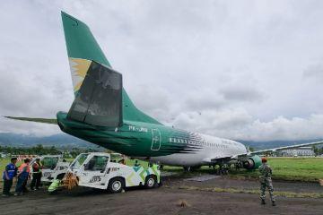 Pesawat cargo Jayawijaya Dirgantara tergelincir di Bandara Sentani