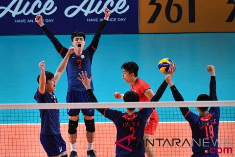 Voli Putra Perunggu chinese Taipei vs Qatar
