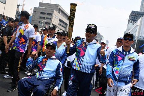 Pawai Obor Asian Para Games