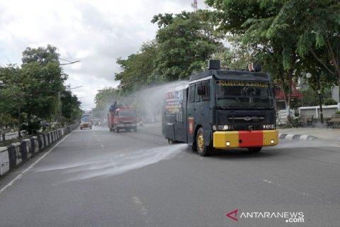 Penyemprotan Disinfektan Serentak Di Kota Banjarmasin