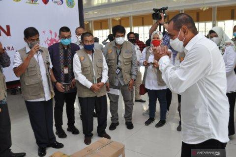 Bantuan Satgas Bencana BUMN Sumut PEDULI COVID-19