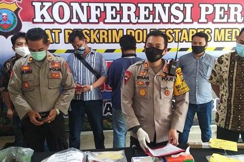 Polrestabes  Medan ciduk pembunuh penarik betor