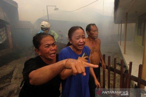 Kebakaran Rumah Padat Penduduk Di Banjarmasin