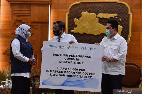 Bantuan BUMN Penanganan COVID-19 Jawa Timur