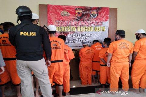 Para tersangka kasus narkoba di Bogor