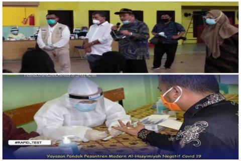 570  santri dan guru di Tebing Tinggi tes cepat COVID-19, hasilnya non reaktif