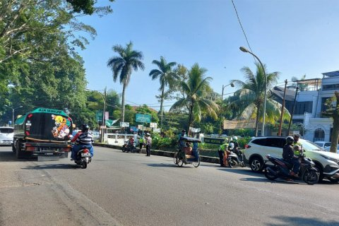 Razia kendaraan bermotor di Kota Bogor