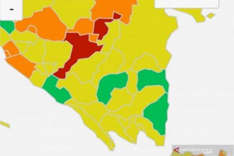 Muara Enim dan Palembang jadi zona merah COVID-19