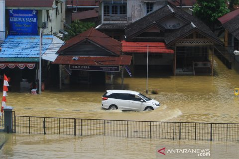Kota Putussibau terendam banjir