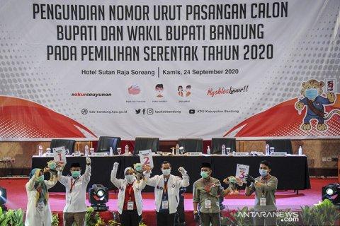 Pengundian nomor urut paslon Pilkada Kabupaten Bandung