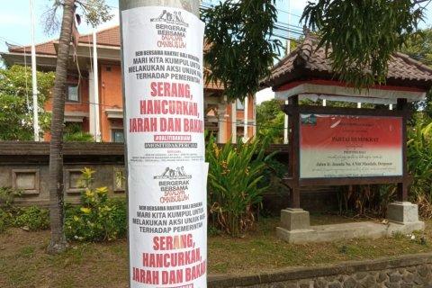 """Polisi selidiki brosur ajakan """"penjarahan"""" dalam unjuk rasa di Bali"""