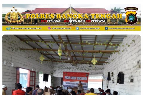 Polres-KPU-Bawaslu Bangka Tengah bahas pilkada aman dan sehat