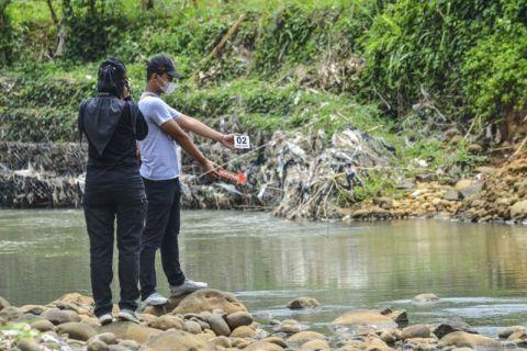 Olah TKP siswa tewas tenggelam di Ciamis