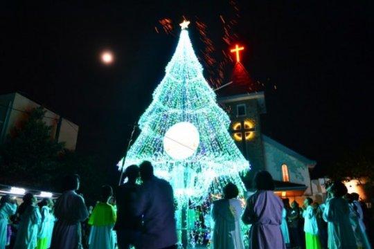 Ganjar Hadiri Perayaan Natal di Solo
