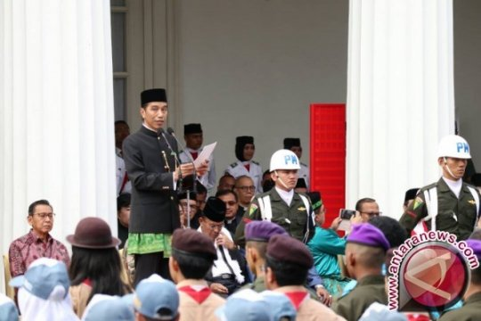 Kenakan Pakaian Betawi, Presiden Pimpin Upacara Hari Lahir Pancasila