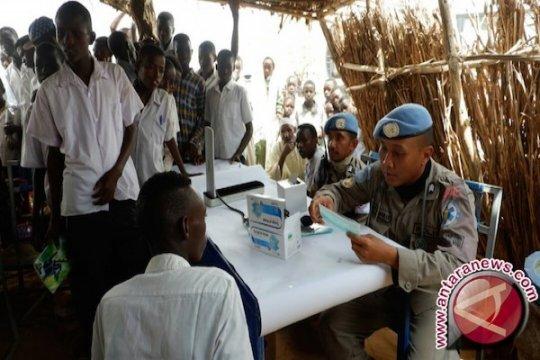 Tim Unit Polisi 9 UNAMID Indonesia Kewalahan Layani Pengungsi Sudan
