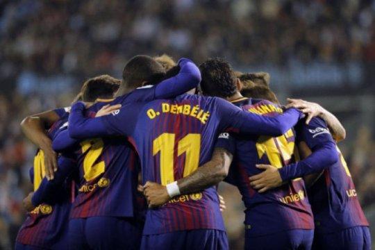 Dembele tampil menawan saar Barcelona tundukkan Villarreal
