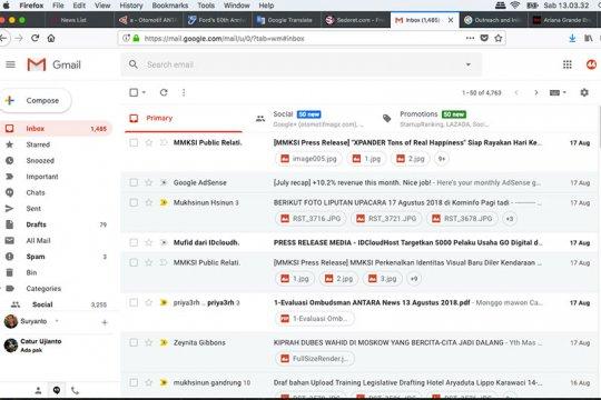 Google perbarui tampilan Gmail