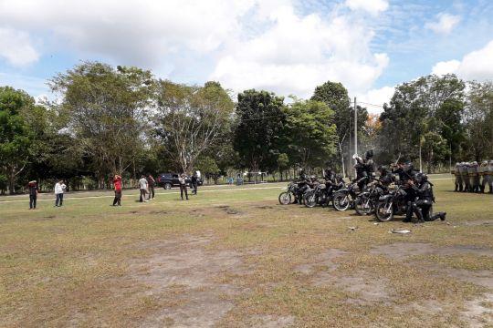 Polres Bangka Tengah gelar simulasi pengamanan Pilpres 2019