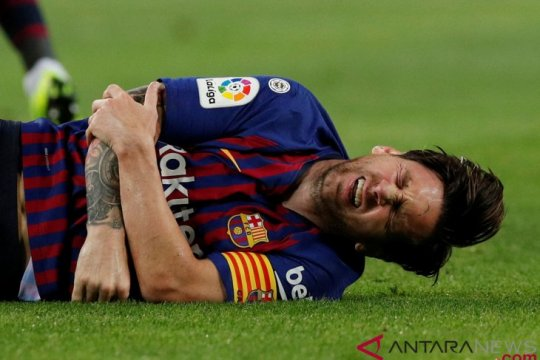Messi cedera, Dembele dan Coutinho dituntut pimpin Barcelona