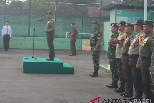 TNI-Polri Belitung apel bersama amankan Pemilu 2019