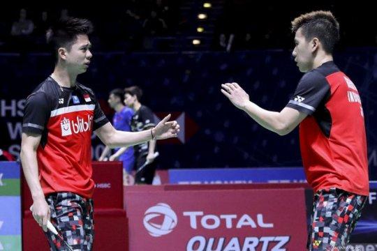 Minions melangkah ke semifinal Singapore Open usai tundukkan Fajar-Rian