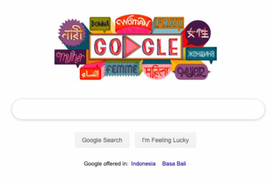 Google Doodle rayakan Hari Perempuan Sedunia