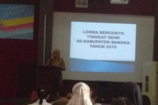 35 siswa SD dan MI di Kabupaten Bangka ikuti lomba cerita