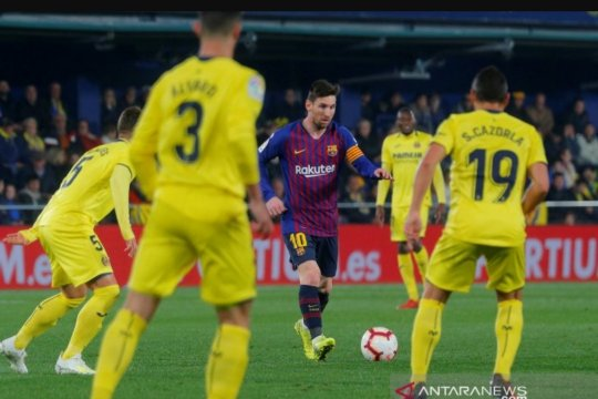 Main imbang 4-4, Barcelona hampir dipermalukan Villarreal