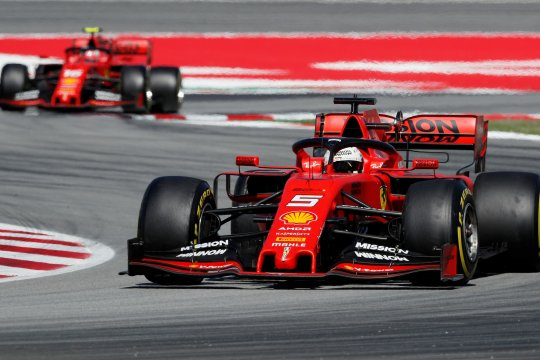 Ferrari tak berkutik dengan mesin barunya di Catalunya