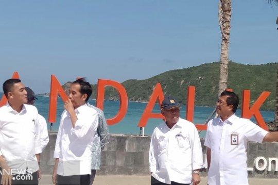Jokowi cek persiapan pembangunan sirkuit MotoGP di Mandalika