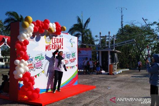 SMN Sultra bersama belasan ribu warga Pangkalpinang jalan sehat