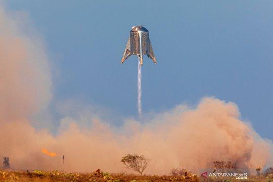 Peluncuran prototipe Mars Starship Starhooper milik SpaceX