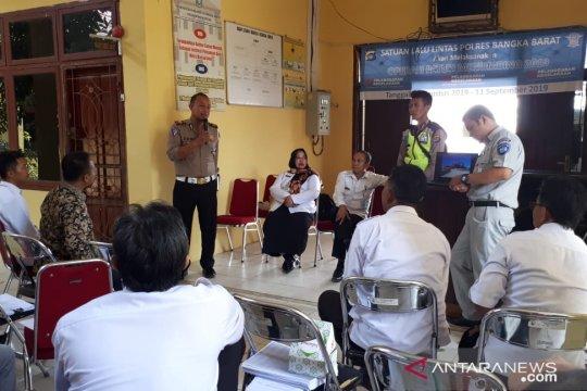 Satlantas Bangka Barat sosialisasikan Operasi Patuh Menumbing 2019