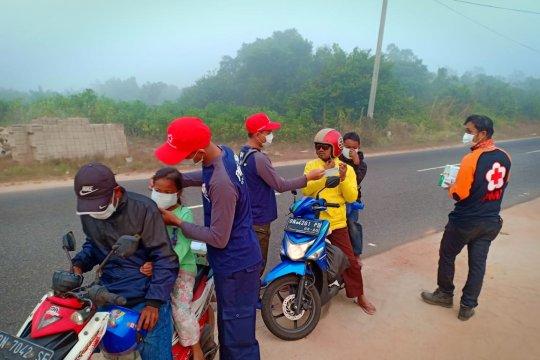 PMI Bangka Tengah data desa terdampak kabut asap karhutla