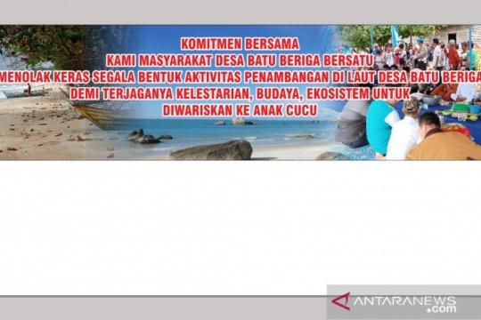 Masyarakat Bangka Tengah tolak aktivitas tambang bijih timah pesisir pantai