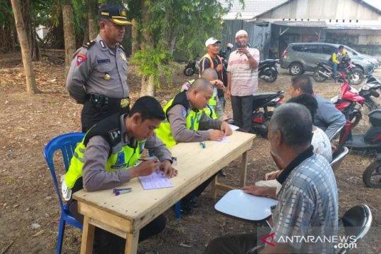 Polres Bangka Selatan tilang 407 pelanggar lalu lintas