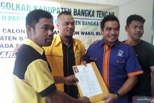 Bupati Ibnu Saleh mendaftar di Partai Golkar Bangka Tengah