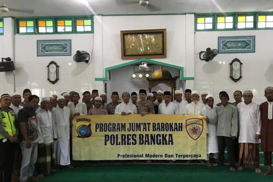 Kapolres Bangka gelar Bhakti Religi safari Jumat Kamtibmas